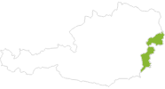 map of all bike tracks in the Burgenland