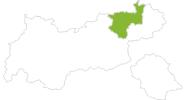 Karte der Radtouren im Kufsteinerland