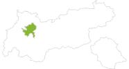 Karte der Radtouren in der Ferienregion Imst