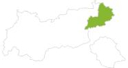 Karte der Radtouren in Kitzbühel