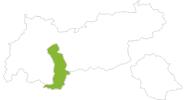 Karte der Radtouren Ötztal
