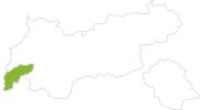 map of all bike tracks in Paznaun - Ischgl