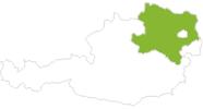 Karte der Radtouren in Niederösterreich