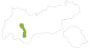 Karte der Radtouren im Pitztal