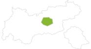 Karte der Radtouren in der Region Hall - Wattens