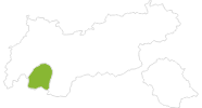 Karte der Radtouren im Tiroler Oberland