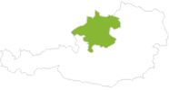 Karte der Radtouren in Oberösterreich