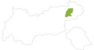 Karte der Radtouren Wilder Kaiser