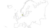 Karte der Radtouren in Dänemark