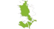 Karte der Radtouren auf West- und Süd-Seeland