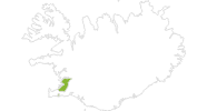 map of all bike tracks in the Capital Region of Iceland