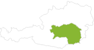 map of all bike tracks in Styria