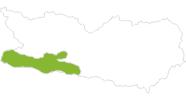 Karte der Radtouren in Nassfeld-Pressegger See - Lesachtal - Weissensee