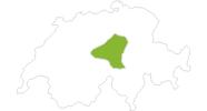 Karte der Radtouren in Luzern - Vierwaldstättersee