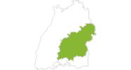 Karte der Radtouren Schwäbische Alb