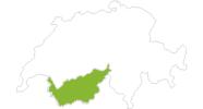Karte der Radtouren im Wallis