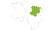 Karte der Radtouren in der Lüneburger Heide