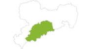 Karte der Radtouren im Erzgebirge
