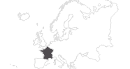 map of all travel guide in France
