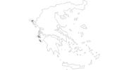 Karte der Reiseziele auf den Ionische Inseln