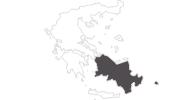 Karte der Reiseziele in Südliche Ägäis