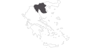 Karte der Reiseziele in Zentralmakedonien