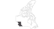 map of all travel guide in British Columbia