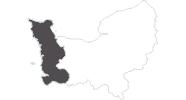 Karte der Reiseziele in Manche