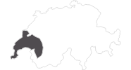 Karte der Reiseziele im Genferseegebiet