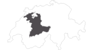 Karte der Reiseziele im Berner Oberland