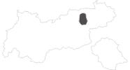 Karte der Reiseziele im Alpbachtal Seenland