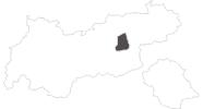 Karte der Reiseziele Erste Ferienregion im Zillertal