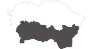 Karte der Reiseziele in der Region Kosice und Umgebung