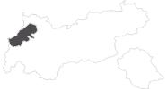 Karte der Reiseziele im Lechtal