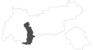 Karte der Reiseziele Ötztal