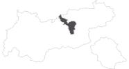 map of all travel guide in the Silberregion Karwendel
