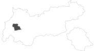 Karte der Reiseziele in Tirol West