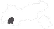 Karte der Reiseziele im Tiroler Oberland