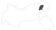 Karte der Reiseziele Wilder Kaiser