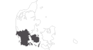 map of all travel guide in the Region of Southern Denmark