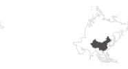 Karte der Reiseziele in China