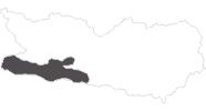 Karte der Reiseziele in Nassfeld-Pressegger See - Lesachtal - Weissensee