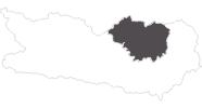 Karte der Reiseziele in der Erlebnisregion Hochosterwitz - Kärntenmitte
