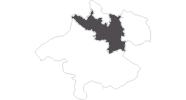 Karte der Reiseziele in Donau Oberösterreich