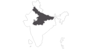 Karte der Reiseziele in Zentralindien