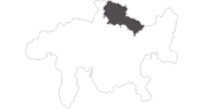 map of all travel guide in the Prättigau