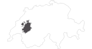 map of all travel guide in the Fribourg region