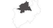 Karte der Reiseziele in Münsterland