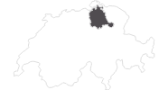 map of all travel guide in the Zurich region