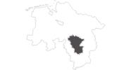 Karte der Reiseziele in der Region Hannover